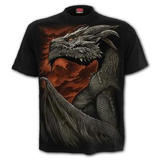tričko pánské SPIRAL - MAJESTIC DRACO - Black - L043M101