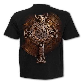 tričko pánské SPIRAL - VIKING SHIELD - Black - L044M101
