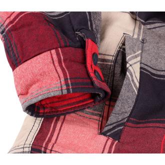 bunda pánská BRANDIT - Lumberjacket - 9478-red+anthra+beige checked