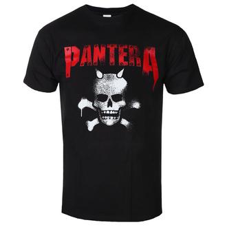 tričko pánské Pantera - Horned Skull Stencil - ROCK OFF, ROCK OFF, Pantera
