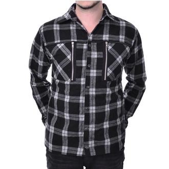 košile pánská Chemical black - EZRA - WHITE CHECK, CHEMICAL BLACK