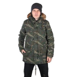 bunda pánská URBAN CLASSICS - Garment Parka - wood camo, URBAN CLASSICS