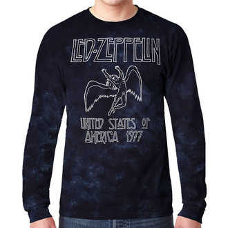 tričko pánské s dlouhým rukávem LED ZEPPELIN - USA TOUR '77 - LIQUID BLUE, LIQUID BLUE, Led Zeppelin
