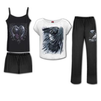 pyžamo dámské (set) SPIRAL - RAVEN HEART - Gothic Pyjama Set, SPIRAL