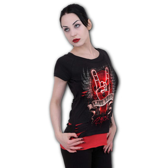 tričko dámské SPIRAL - LIVE LOUD - Black, SPIRAL