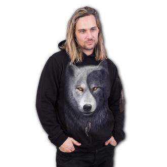 mikina pánská SPIRAL - WOLF CHI - Black, SPIRAL