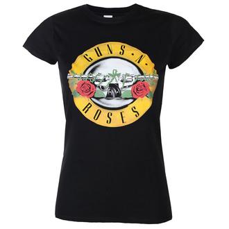 tričko dámské Guns N' Roses - Classic Logo - ROCK OFF, ROCK OFF, Guns N' Roses