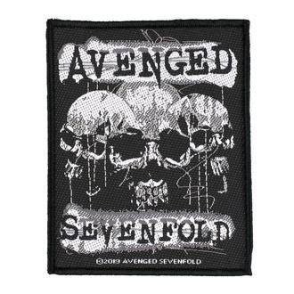 nášivka Avenged Sevenfold - 3 Skulls - RAZAMATAZ, RAZAMATAZ, Avenged Sevenfold