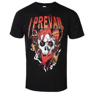 tričko pánské I Prevail - Orange Skull - Black - KINGS ROAD, KINGS ROAD, I Prevail