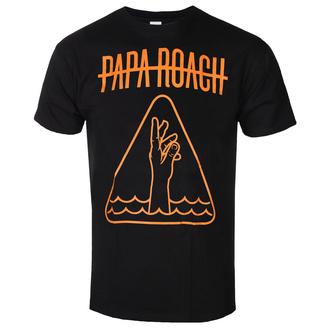 tričko pánské Papa Roach - Hand Icon - Black - KINGS ROAD, KINGS ROAD, Papa Roach