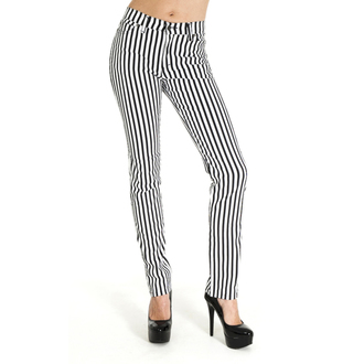 kalhoty (unisex) 3RDAND56th - Striped Skinny  - BLK/WHT, 3RDAND56th