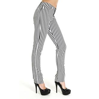 kalhoty (unisex) 3RDAND56th - Striped Skinny  - BLK/WHT