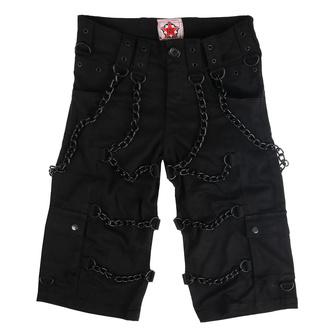 kraťasy pánské BLACK PISTOL - Chain - Denim Black, BLACK PISTOL