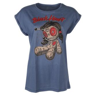 tričko dámské BLACK HEART - WOODOO DOLL VINTAGEBLUE EXT - BLUE - 010-0177-BLU