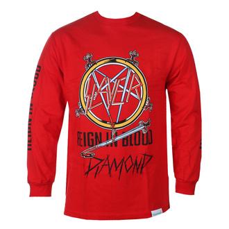 tričko pánské s dlouhým rukávem SLAYER - DIAMOND - Reign In Blood - Red - RED_B20DMPC305S