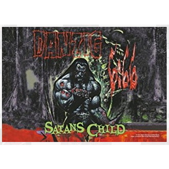 vlajka Danzig - Satan Child, HEART ROCK, Danzig