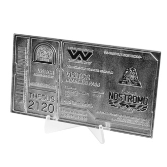 dekorace Alien - Replica Nostromo Ticket Limited Edition (silver plated), NNM, Alien