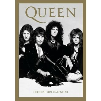 kalendář na rok 2021 - QUEEN, NNM, Queen