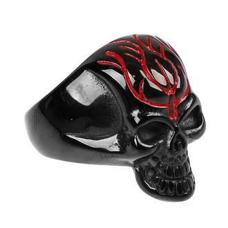 prsten ETNOX - Black Skull, ETNOX
