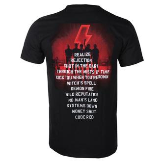tričko pánské AC/DC - Power Up - Track List - Black, BIL, AC-DC