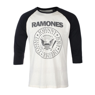 tričko pánské s 3/4 rukávem RAMONES - CLASSIC LOGO - ECRU / BLACK RAGLAN2 - GOT TO HAVE IT, GOT TO HAVE IT, Ramones