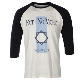 tričko pánské s 3/4 rukávem FAITH NO MORE - WE CARE A LOT - ECRU / BLACK RAGLAN - GOT TO HAVE IT - FB3/5451
