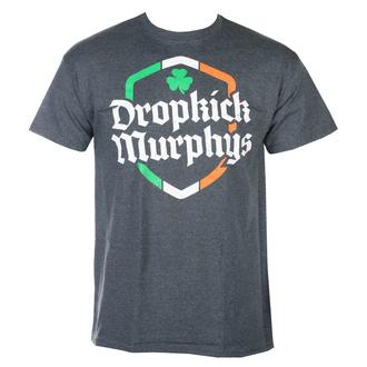tričko pánské Dropkick Murphys - Ire Shield - Dark Heather - KINGS ROAD, KINGS ROAD, Dropkick Murphys