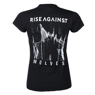tričko dámské Rise Against - Wolves Pocket Girl Fitted - Black - KINGS ROAD, KINGS ROAD, Rise Against