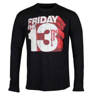 tričko pánské s dlouhým rukávem Friday The 13th - Block Logo - Black - HYBRIS, HYBRIS, Friday the 13th