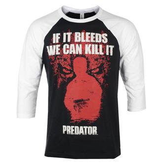 tričko pánské s 3/4 rukávem Predator - If It Bleeds - Baseball - White-Black - HYBRIS, HYBRIS, Predator