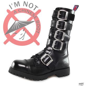 boty NEVERMIND - 14 dírkové - Polido Black - POŠKOZENÉ - BH050