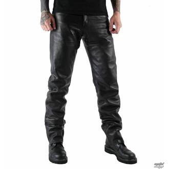 kalhoty pánské kožené OSX - Martin - Black - 301 - POŠKOZENÉ - BH088