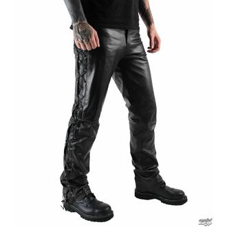 kalhoty pánské kožené OSX - Out-Law - Black - 305 - POŠKOZENÉ - BH089
