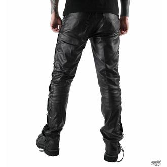 kalhoty pánské kožené OSX - Out-Law - Black - 305 - POŠKOZENÉ, OSX