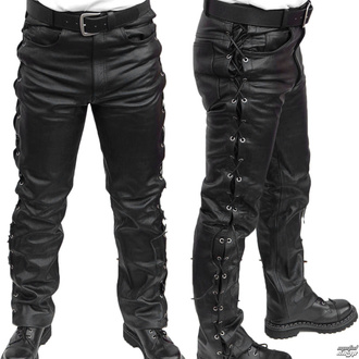kalhoty kožené pánské MOTOR - MOT003 - POŠKOZENÉ - BH090