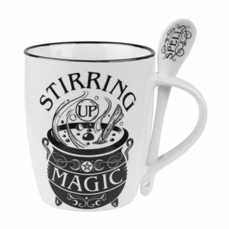 hrnek se lžičkou ALCHEMY GOTHIC - Stirring Up Magic, ALCHEMY GOTHIC