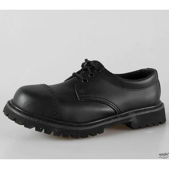 boty kožené 3dírkové BRANDIT - Phantom Black - 9001/2 - POŠKOZENÉ - BH099