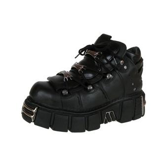 boty NEW ROCK - String Shoes (106-S1) Black - POŠKOZENÉ - BH107