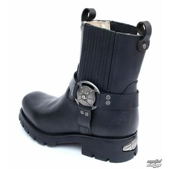 boty NEW ROCK - 7605-S1 - Itali Negro - POŠKOZENÉ- BH108