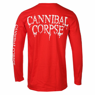 tričko pánské s dlouhým rukávem CANNIBAL CORPSE - PILE OF SKULLS - RED - PLASTIC HEAD, PLASTIC HEAD, Cannibal Corpse