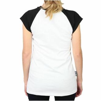 tričko dámské BLACK HEART - LADY LUCK - WHITE, BLACK HEART