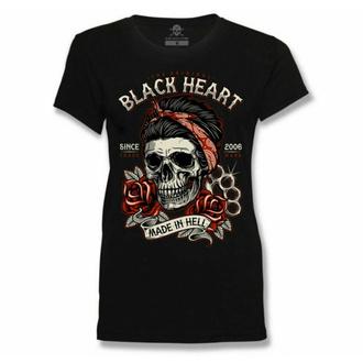 tričko dámské BLACK HEART - JENY SKULL - BLACK, BLACK HEART