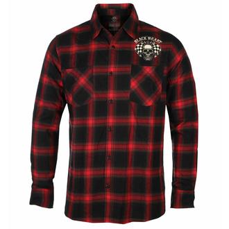 košile pánská BLACK HEART - STARTER - RED, BLACK HEART
