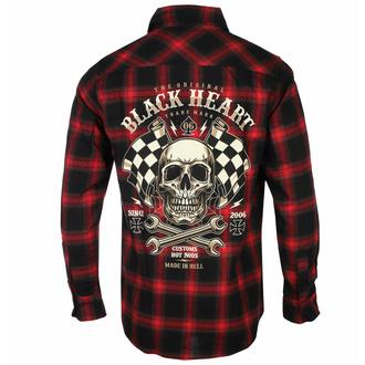košile pánská BLACK HEART - STARTER - RED - 8591