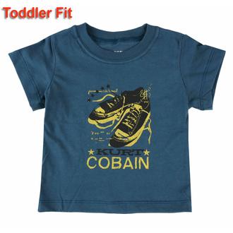 tričko dětské Nirvana - Kurt Cobain - NAVY - ROCK OFF, ROCK OFF, Nirvana