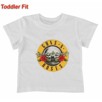 tričko dětské Guns N' Roses - Classic Logo - WHT - ROCK OFF, ROCK OFF, Guns N' Roses