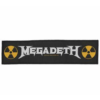 nášivka MEGADETH - LOGO - RAZAMATAZ, RAZAMATAZ, Megadeth