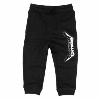 kalhoty dětské (tepláky) Metallica - (Logo) - black - white - Metal-Kids, Metal-Kids, Metallica