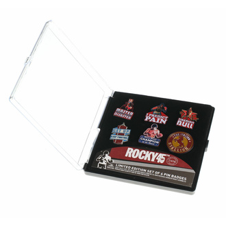 připínáčky (sada 6ks) Rocky - 45th Anniversary Limited Edition, NNM, Rocky