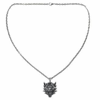 obojek VIKING WOLF NORDIC MYTHOLOGY PENDANT, Leather & Steel Fashion